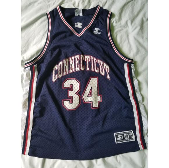 Vintage Ray Allen Connecticut #34 Basketball Jersey Vx8QmOY